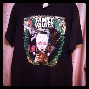 Family Value tours Korn tee